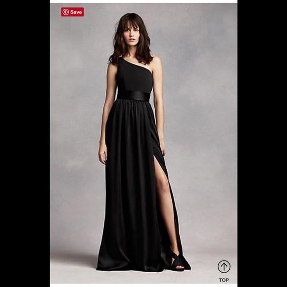 c7b0db4c6223 Vera Wang Dresses   One Shoulder Dress With Satin Sash Nwt Size 12 ...
